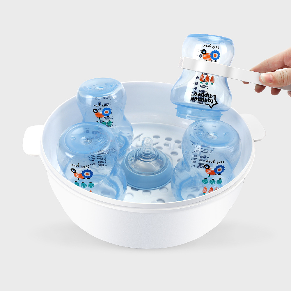 AAG Infant Bottle Safety Microwave Steam Sterilizer Set BPA Free Baby Bottle Sterilizer Nipple Pacifier Disinfection Steam Box