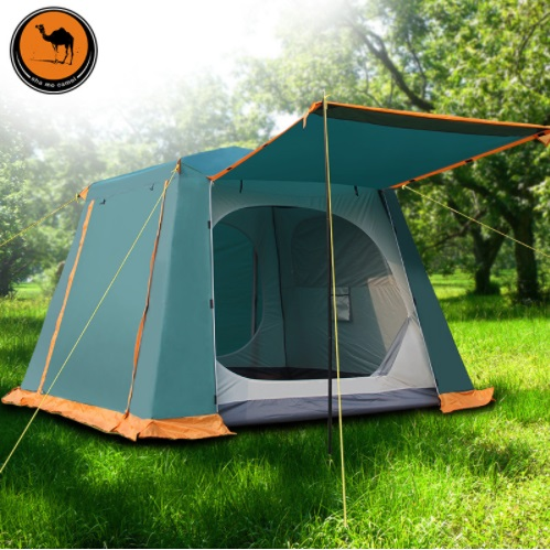 New Outdoor Tent Waterproof UV Double Layer Beach Tent 3 4 5 6 Person Travel Party Tent Automatic Family Camping Tent pyramid indian camping tent 3 5 person outdoor family yurt tent ultra light double layer driving filed tent fireproof material