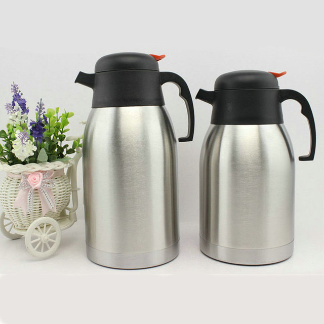 Double Stainless Steel Coffee Pot Interior Thermos Flask Household Warm Keeping Kettle Water