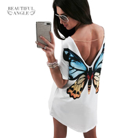 Europe And The United States Hit Color Printing Stitching Short Sleeved V Neck T Shirt