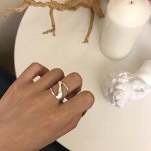 Silvology 925 Sterling Silver Geometric Glossy Wide Rings Elegant Creative Minimalist Forwomen 2019 Korea Jewelry