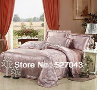FREE SHIPPING peacock luxury embroidery tencel satin silk queen/KING adult SIZE hotel bedding set quilt sheets set