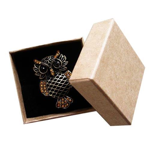 Free shipping wholesale 100pcs lot Kraft Paper box Fashion Finger Ring Jewelry box 5 5 3