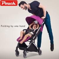 Luxury portable baby stroller Bebek arabasi infant poussette strollers prams for newborns kinderwagens Brand Pouch A28 pushchair