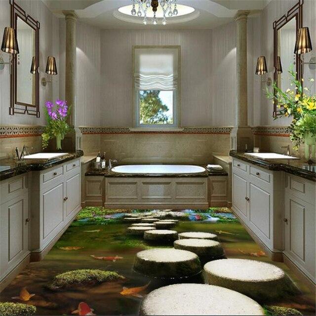 Beibehang Stein Pier Schlafzimmer Badezimmer 3d Bodenbelag Fliesen  Dreidimensionale Malerei Waterproo Selbstklebende Papel De Parede