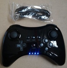 Black Classic Dual Analog Wireless Bluetooth Remote U Pro Game Controller Gamepad for Nintendo wii-u