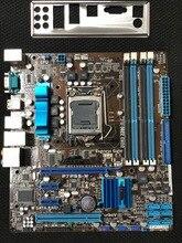 Оригинальный материнская плата для ASUS P7P55-M DDR3 LGA 1156 USB2.0 для I5 I7 ЦП 16 ГБ SATA2 P55 Desktop motherborad Бесплатная доставка