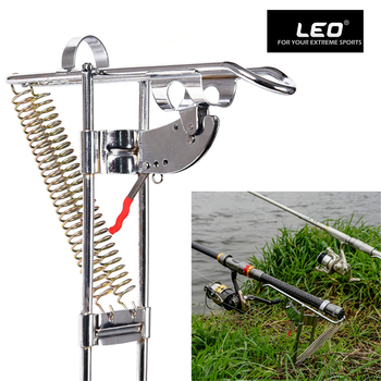 Leo 낚시 브래킷 막대 홀더 자동 더블 스프링 각도 물고기 극 태클 브래킷 AntiRust 스테인레스 스틸 액세서리