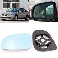 Volvo için S40 2006 2012 yan görünüm kapi ayna mavi cam taban ısıtmalı 1 çift|Ayna ve Kapaklar|Otomobiller ve Motosikletler -