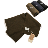 NON SOTCK USN Woolen Scarves Winter Men's Military Wool Shawl Wrap Navy Olive