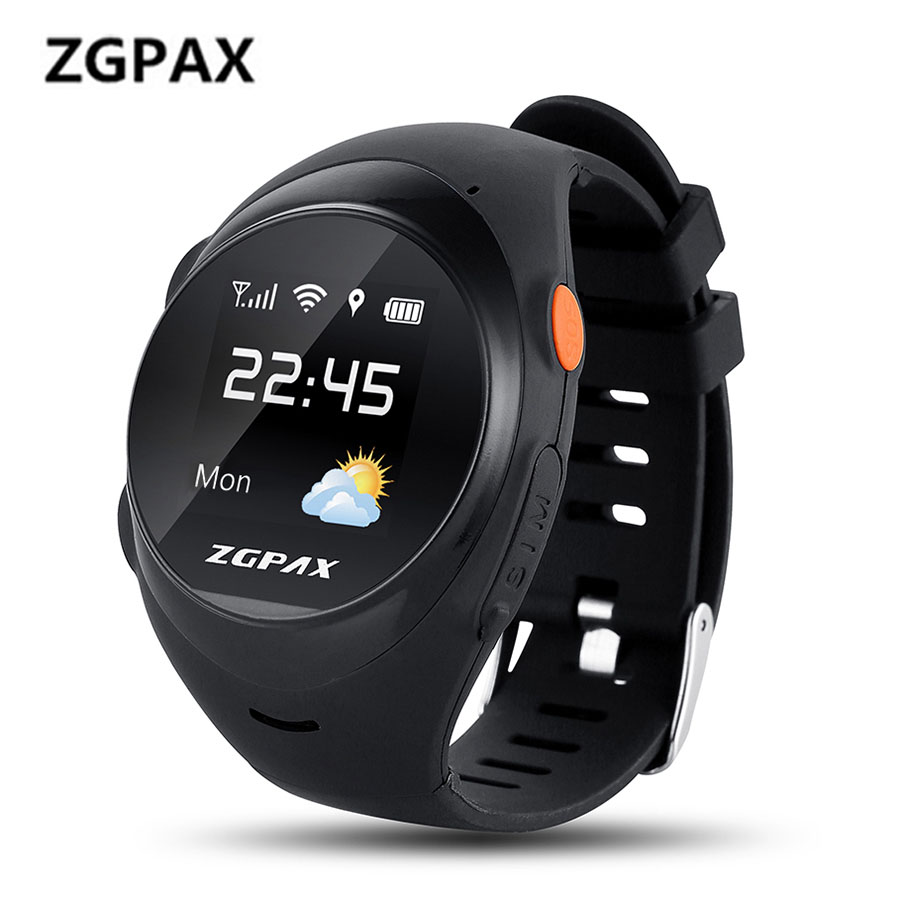 ZGPAX S888A GPS LBS Wifi Child Smart Watches SOS Emergency Call Smartwatch For Kid Old Man Anti-lost Wristwatch Support SIM Card