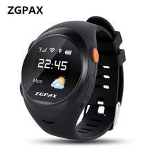 ZGPAX S888A LBS GPS Wifi Inteligente Criança Relógios SOS Emergência chamada Smartwatch Para O Miúdo Velho Anti-perdido relógio de Pulso Suporte SIM cartão
