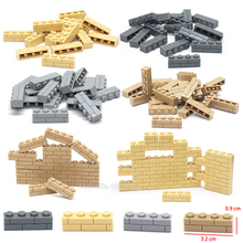 Legoinglys Piece 1x4 Building Blocks Wall brick Lot Diy Military City Technology Figures Mini  Model  Moc Toys For Children Gift