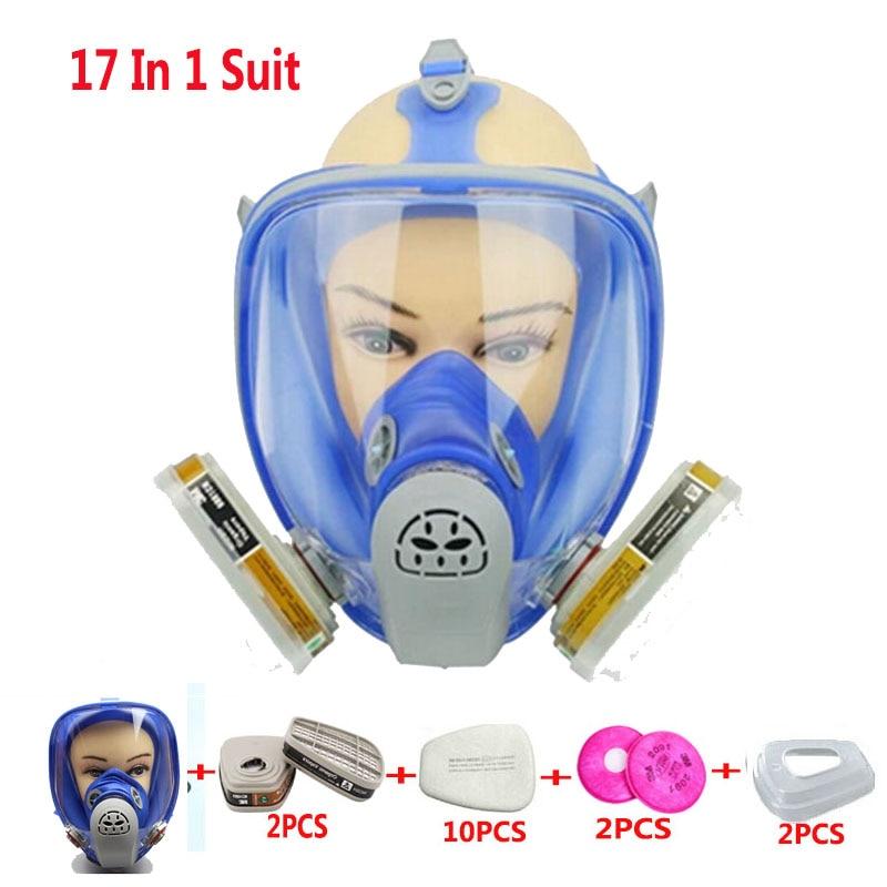 17 en 1 Peinture Pulvérisation gel De Silice Masque À Gaz Similer Pour 6800 Silicone Masque À Gaz Intégral Masque Respirateur