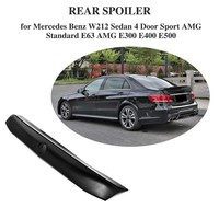 Fibra de carbono Traseira Do Carro Tronco Spoiler AMG Bota Lip para Mercedes Benz Classe E E63 E550 E500 E400 E350 E300 e250 E200 2010-2015