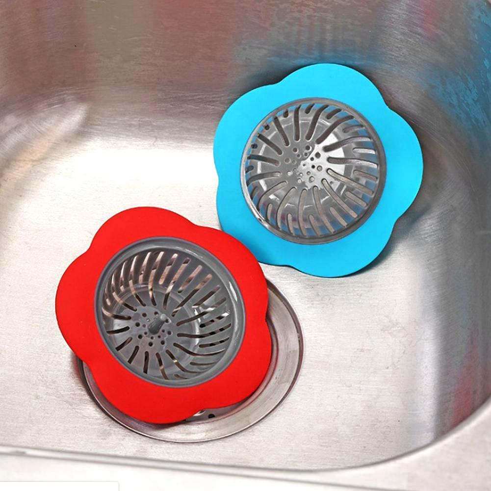 Flower Shaped Silicone Sink Strainer Shower Sink Strainer Floor Drain Anti-clogging Filter 1