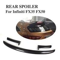 Углерода Волокно задний спойлер на крыше крыло губы для Infiniti fx25 FX35 FX50 2009 2012 стайлинга автомобилей
