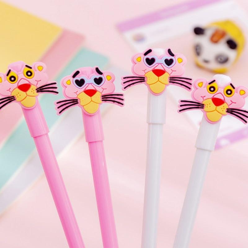1pcs Pink Panther Gel Pen Kawaii Stationery Gel Pens 0.38mm Novelty Cute Pens Student Writing Pen Gift Kawaii School Supplies