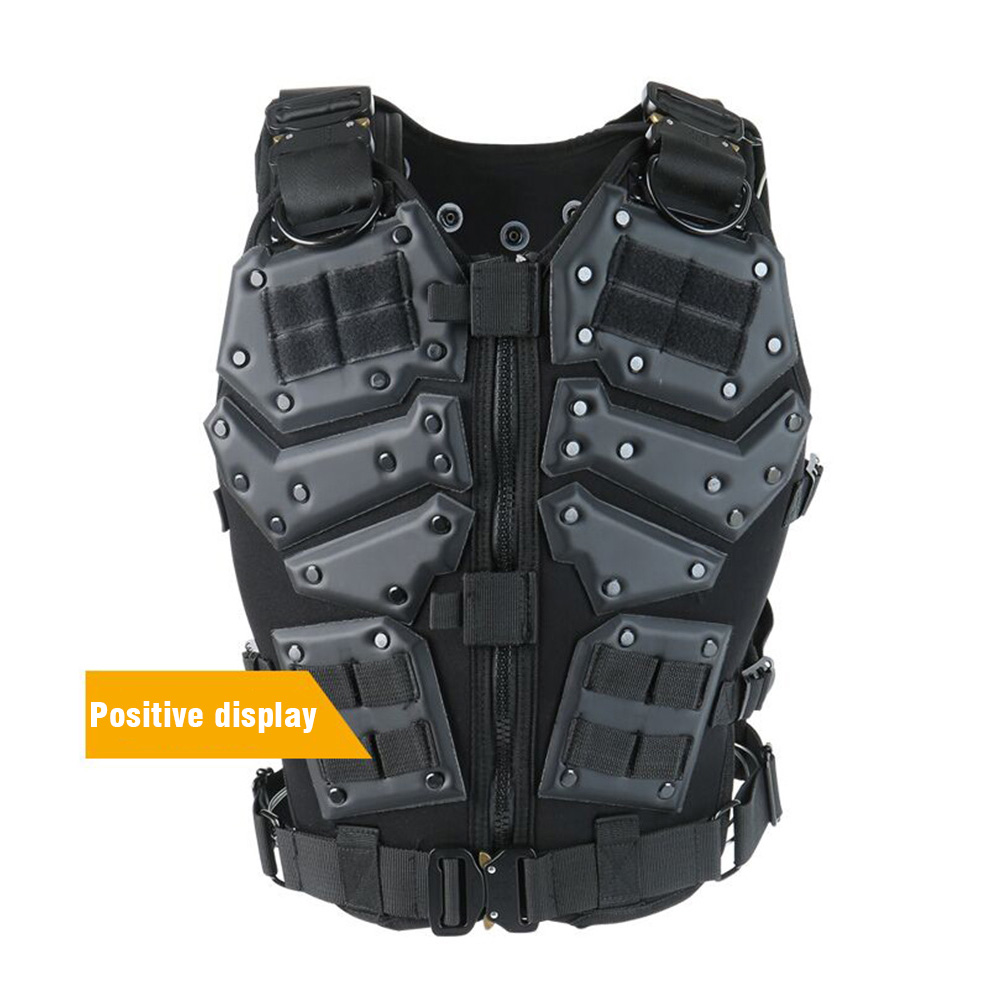 Outdoor Game Tactical Military Hunting Vests Tactical Hunting Combat Body Black And Tan Color Armor Vest