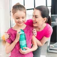 ZORRI niños botella de agua creativo coctelera para bebidas tour de camping Tritan ligero botellas para al aire libre deporte Gourde botella de agua