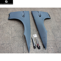 E92 325i 330i 335i M3 style PP Unpainted Grey Primer Auto Car Wheel Arch Side Fenders Flare For BMW E92 Only 08 12