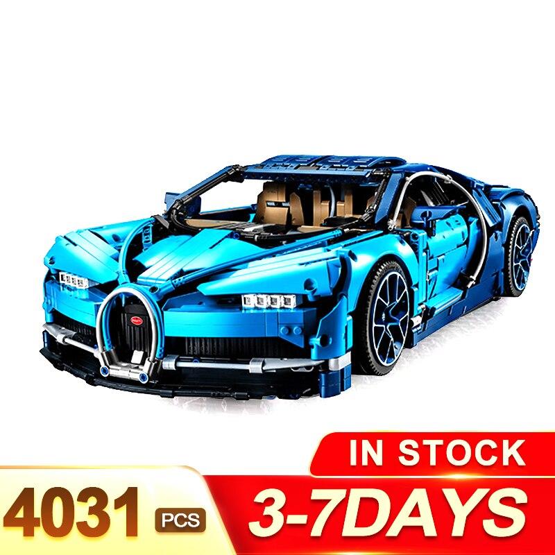 Safe shipping legorreta Technic The Bugatti Chiron Racing Car Sets Model Building Blocks Brick Toys For Children Birthday Gift caterham 7 csr