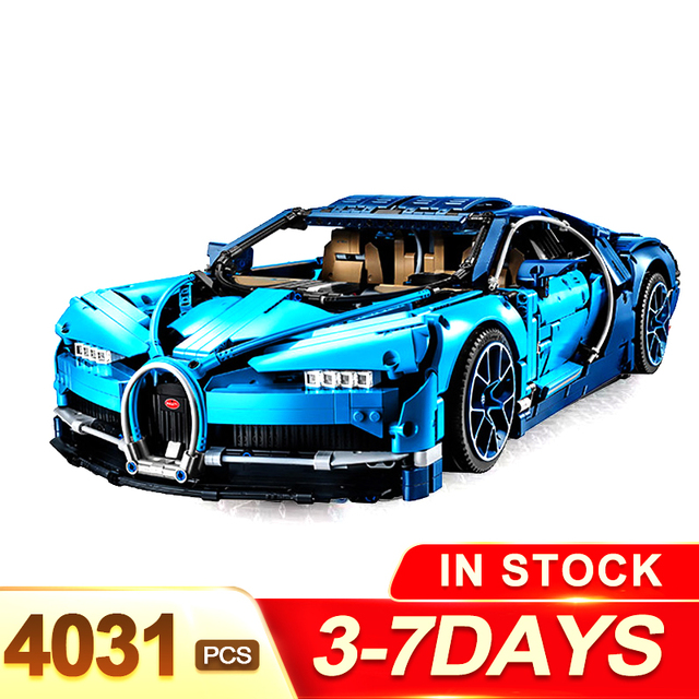 Safe shipping LegoINGLYS Technic The Bugatti Chiron Racing Car Sets Model Building Blocks Brick Toys For Children Birthday Gift