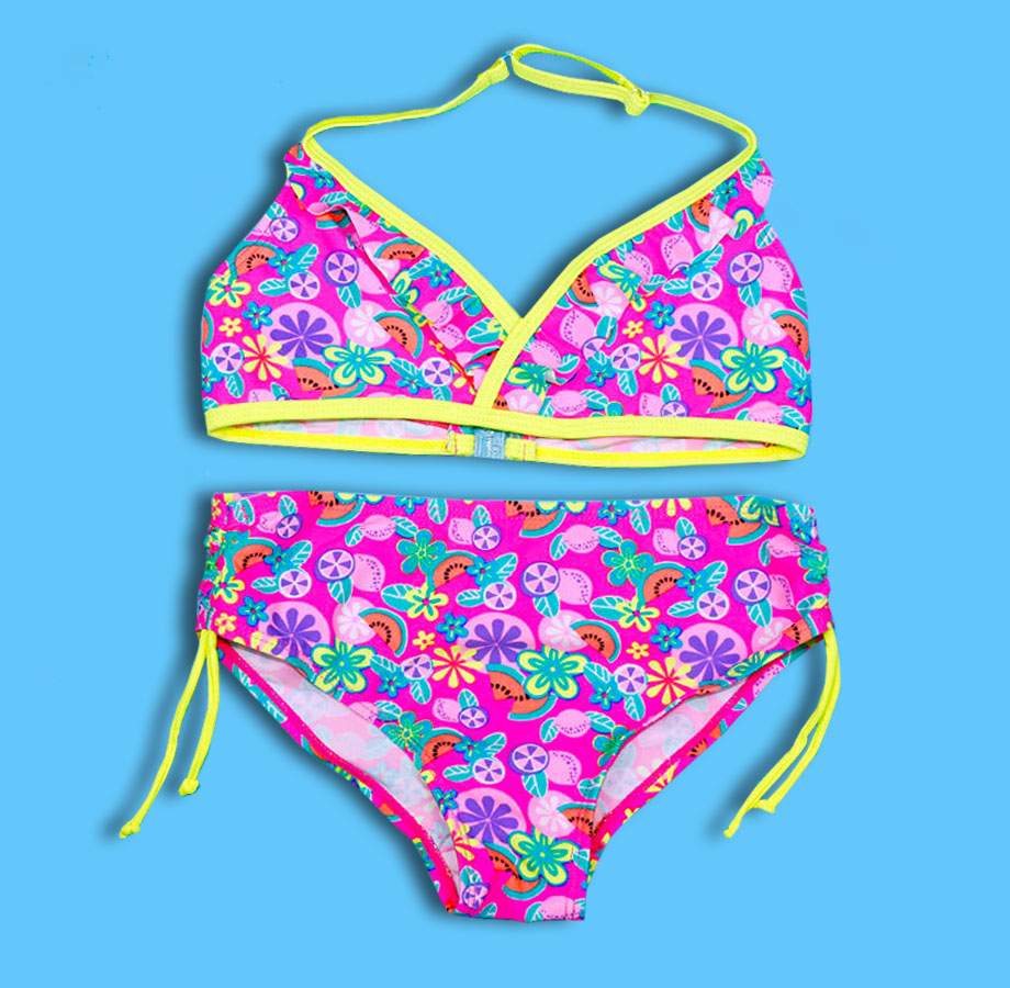 ca8db3babf 8-16 Years Two Piece Children Swimsuit Girl Bikini Kids Swimwear Printed  Teenage Girl Bathing Suit Cute Child Swimsuits Bikinis