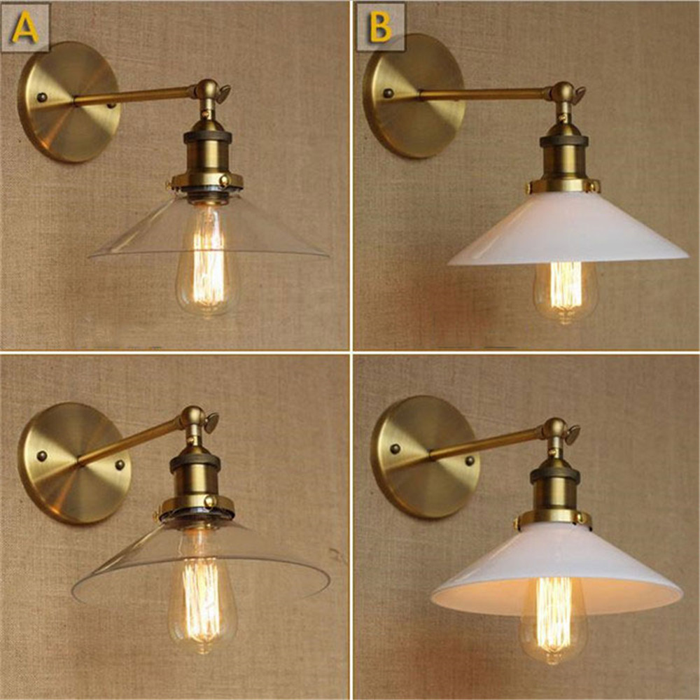 Vintage Industrial Modern Contemporary Clear Frosted Glass shade Sconce Wall Lights Wall Lamp arandelas para parede vintage vintage 10 tiffany frosted colored glass