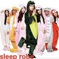 Assecla bonito flanela Adulto animais Pijama Panda das mulheres sono tops cosplay Pijama Onesies dos desenhos animados Pijamas Robe