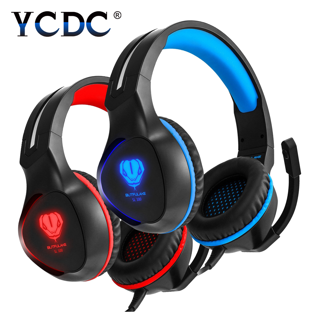 YCDC SL-100 Headband Headphone Magnetic Stereo Bass noise canceling Gaming Headset Computer Earphone With Microphone Mic each g8200 gaming headphone 7 1 surround usb vibration game headset headband earphone with mic led light for fone pc gamer ps4