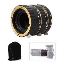 Pixel золото или синий Автофокус AF Крепление Макрос Удлинитель кольцо адаптер для объектива Canon DSLR с маленький гибкий USB светодиодный свет