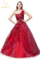 Bealegantom Cheap One Shoulder Quinceanera Dresses 2019 Ball Gown Flower Sweet 15 16 Dresses Vestidos De 15 Anos QA1059