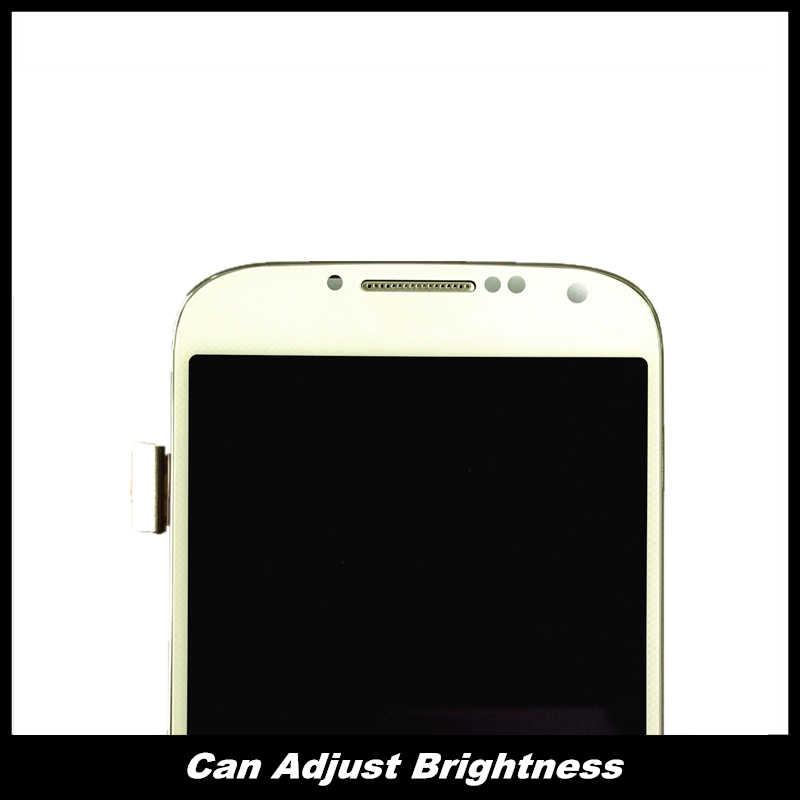 الهاتف عرض LCD قطع غيار سامسونج غالاكسي S4 i9500 i9505 i9506 LCD 100% اختبار مجموعة المحولات الرقمية لشاشة تعمل بلمس مع الإطار