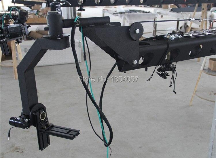 Jimmy jib crane 6 m 2 axes motorisé néerlandais tête caméra vidéo avec dolly, moniteur, télécommande approvisionnement d'usine - 2