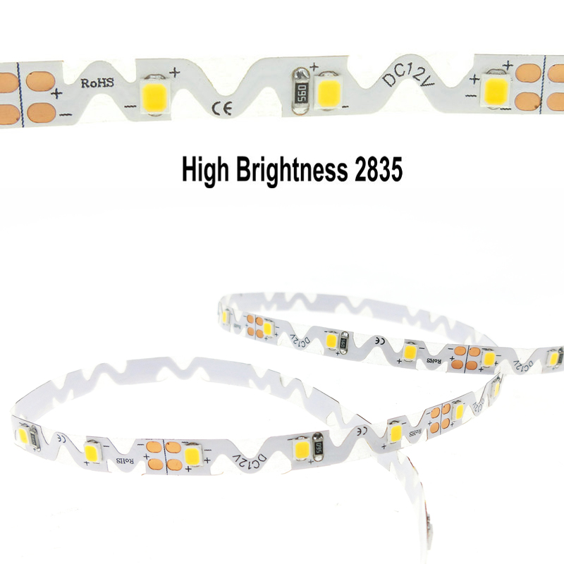 12 V S Shape LED Strip Light 2835 SMD Flexible LED Light 60LED/m 5m for Free Angle Bending Channel Letter S type flexible 2835 stylish big letter s shape alloy embellished belt for men