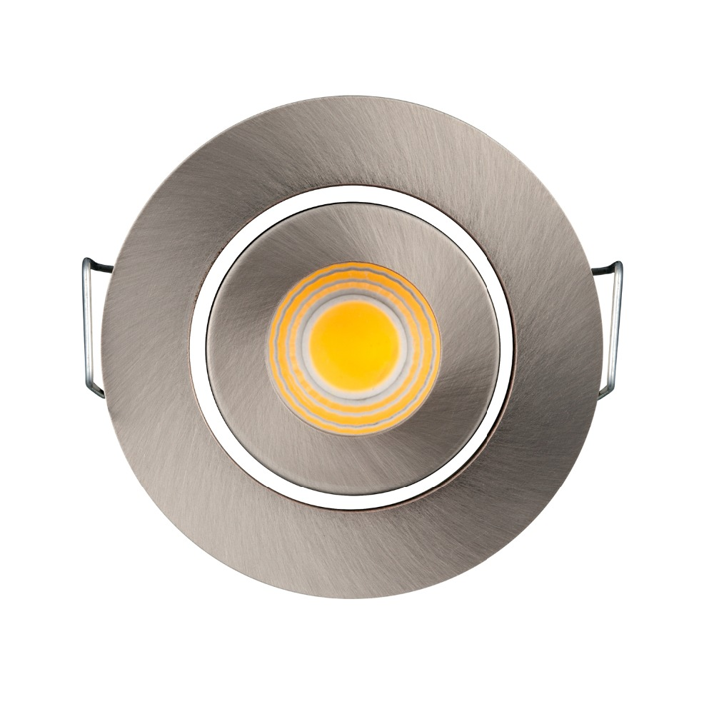 Spot A Led Exterieur 10pcs Recessed Cob Dimmable Spot Light 3w 110v 220v Mini Spot Led Exterieur Encastrab Downlight Satin Nickel Color In Downlights From Lights