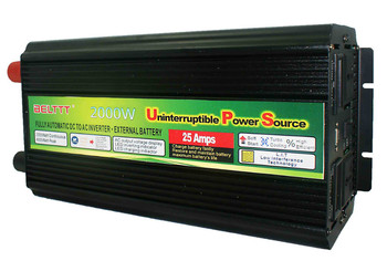 Fast shipping BELTTT 1 Year warranty  DC24V to AC220V 2000W Inverter with built-in battery charger