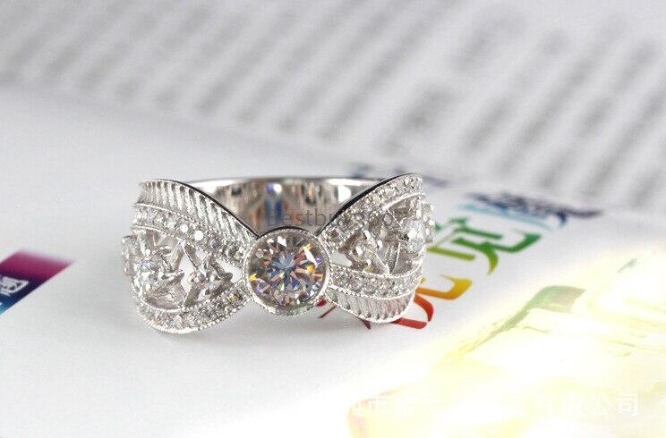0.5ct кольцо из стерлингового серебра 925 SONA синтетический бриллиан Коктейльные Вечерние S925 кольцо(JSA