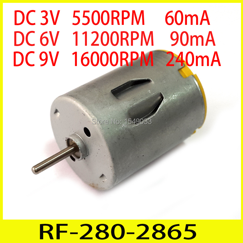 new 5pcs dc 3v 5500rpm high speed motor dc 6v 11200rpm low