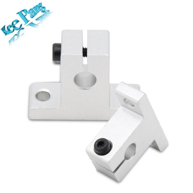 5 unids/lote SK8 SH8A Linear Del Eje Del Carril de Soporte SK10 SK12 Aluminio Bl