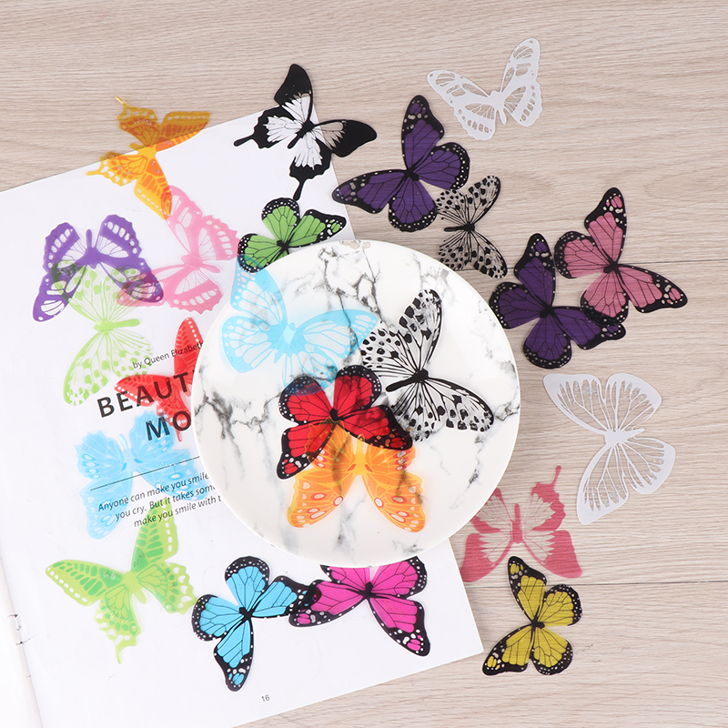 Fashion New 3D Butterfly Sticker Art Design Vivid Decals Wall Stickers Home Decor Room(China)