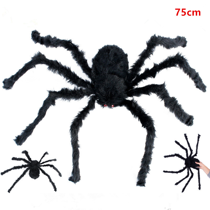 1PCS 30/75CM Large Spider Made Of Wire And Plush Funny Toy Halloween ...