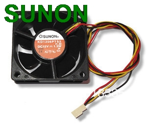 Original Sunon KD1206PTS2 6CM 6*6*2.5CM  60x60x25mm 6025 3 Pin CPU Case Fan The Fan Van Always  Fans штаны для мальчиков baby boy pants kd 6 2015 infantil kd 2 3 4 5 6 xtk 66