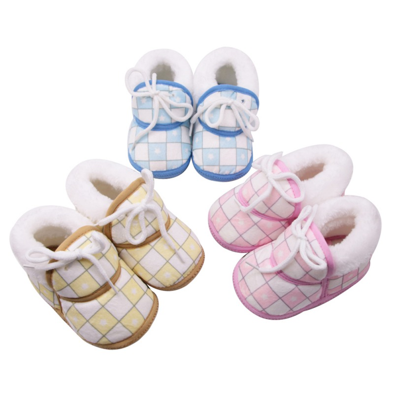 Baby Shoes Boots First-Walkers Pinfant Baby-Boys-Girls Winter Warm 0-12M Cute Cotton