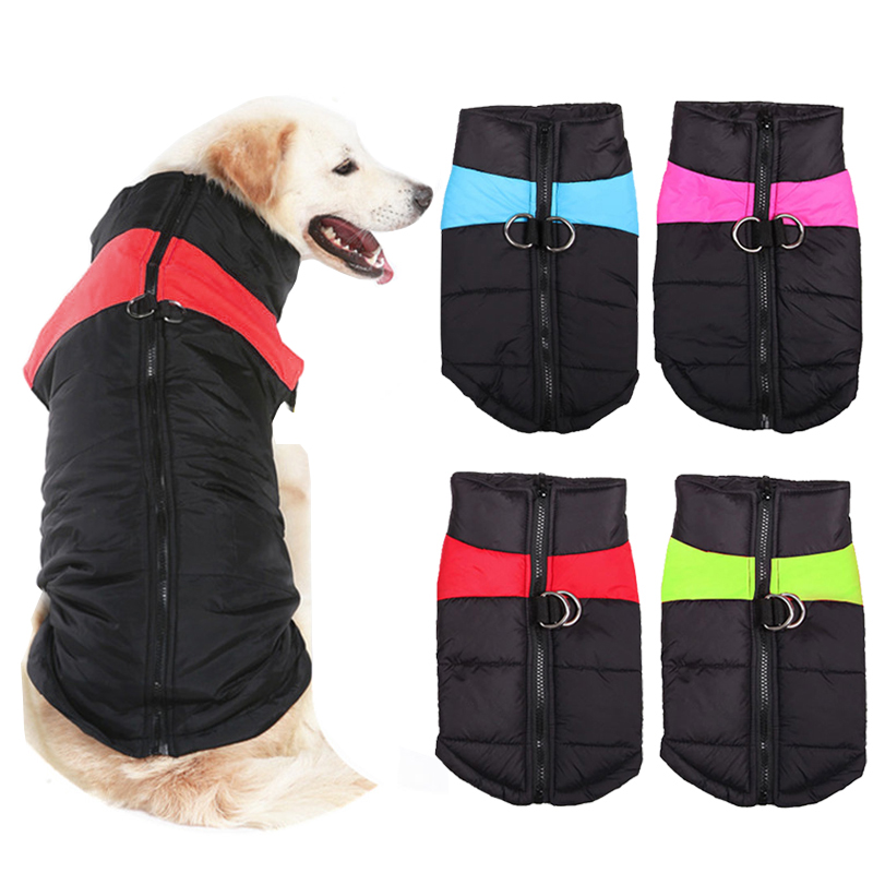 Waterproof Big Dog Coat Winter Warm Clothes For Medium Large Dogs Golden Retriever Pitbull Vest