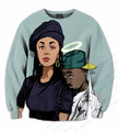 Real USA Size 3D Sublimation print Poetic Justice Crewneck Sweatshirts plus size Custom made Clothing