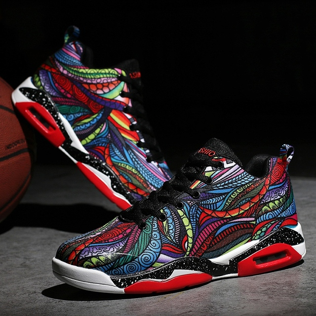 2019 Men Women Air Cushion Basketball Shoes Tennis Shoes Fashion Sneaker jogging shoes for men mens printed shoes