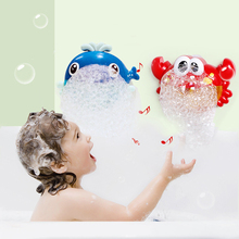 Classic Baby Bath Toy Automatic Bubble Machine Big Frogs Whale Crab Maker Blower Music