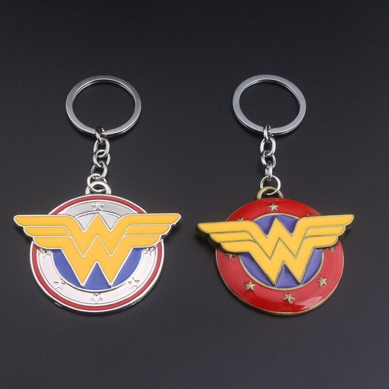 Classical Pop Film Super Hero Wonder Woman Metal Keychain High-quality Fashion metal jewelry